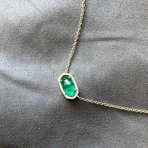 emerald green kendra scott necklace!